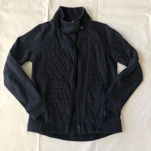 Lululemon Womens Fleece Jacket Navy High Neck Sz 6
